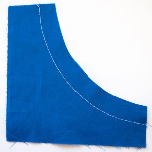 sewing inward curves