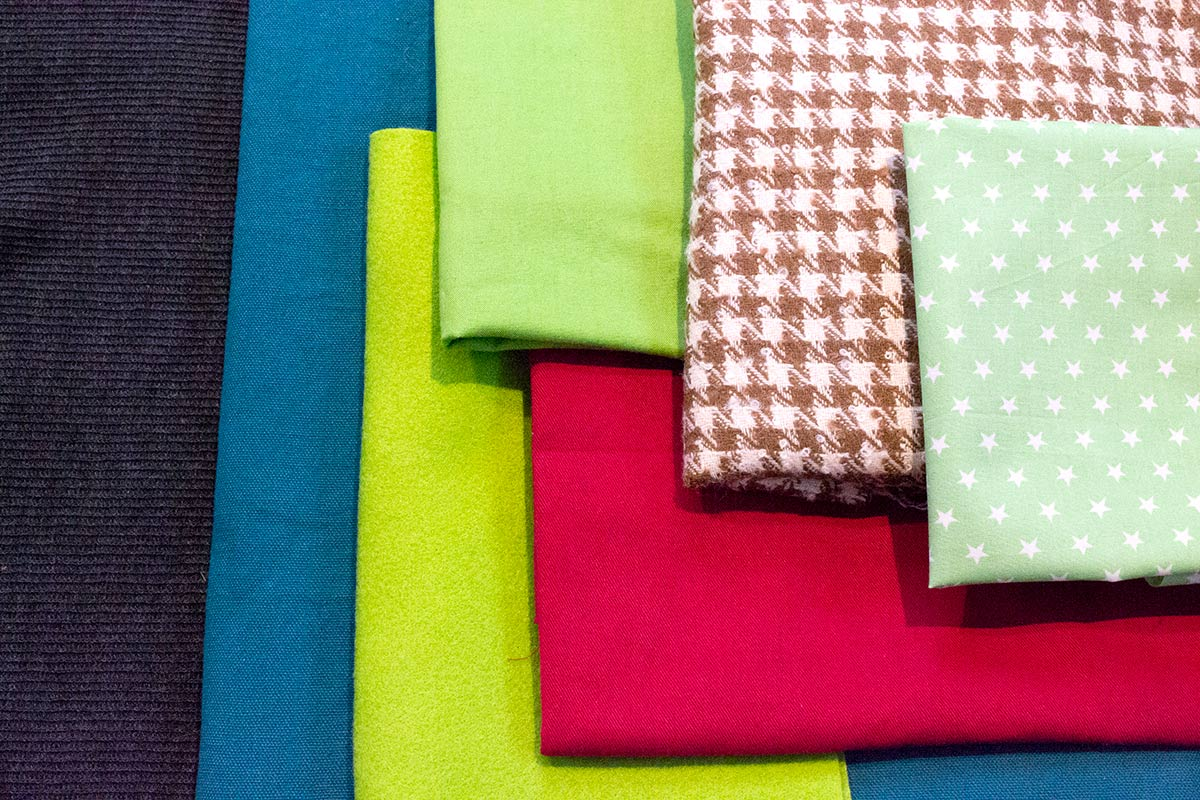 A variety of fabric types