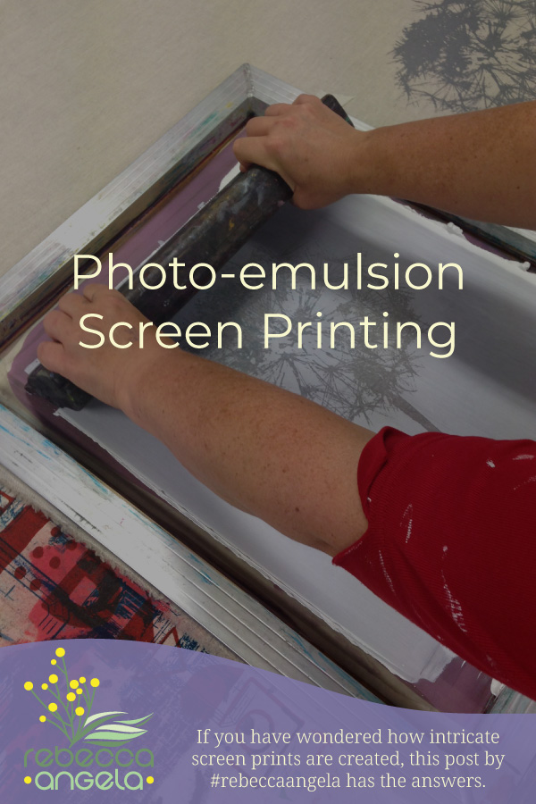 Photo-emulsion screen printing Pinterest image