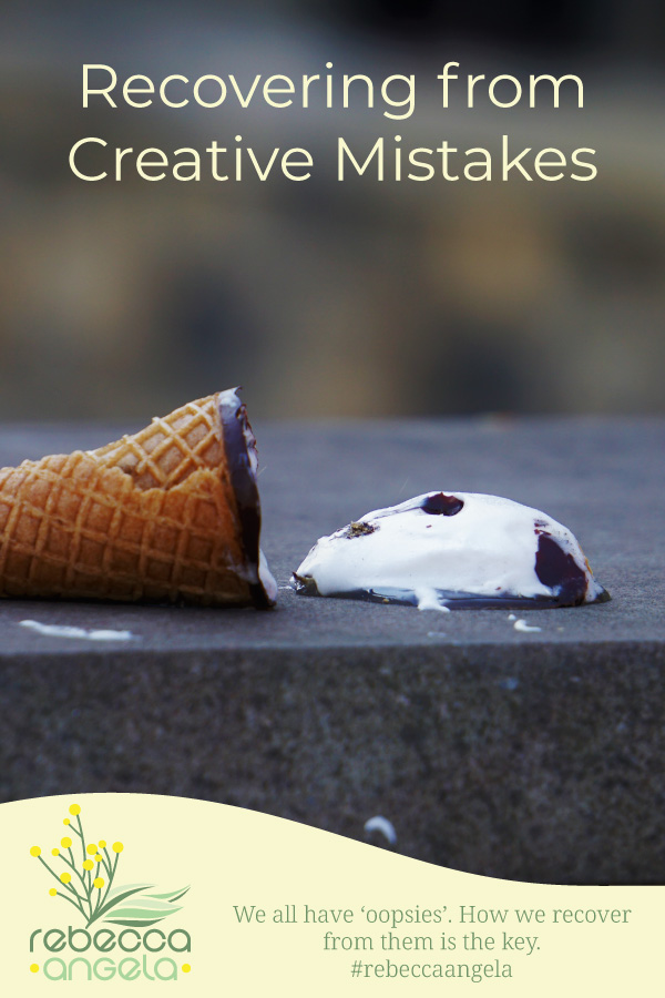 Recovering from Creative Mistakes Pinterest Image