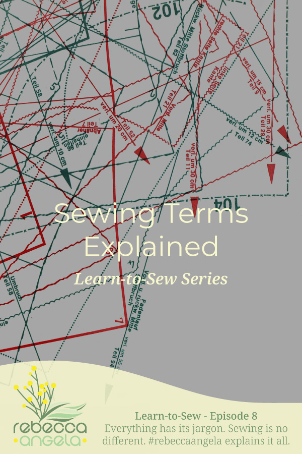 Sewing Terms Explained Pinterest Image
