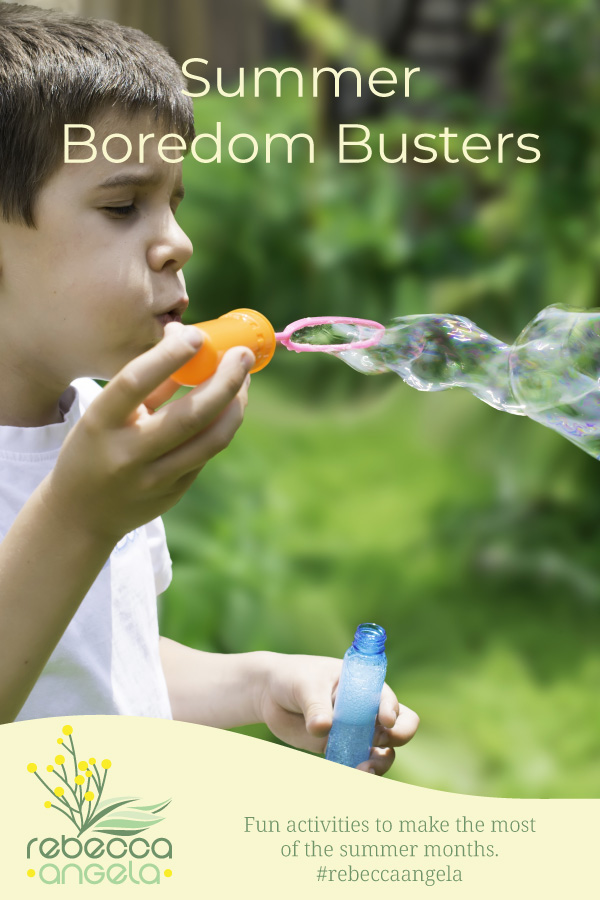 Summer Boredom Busters Pinterest Image