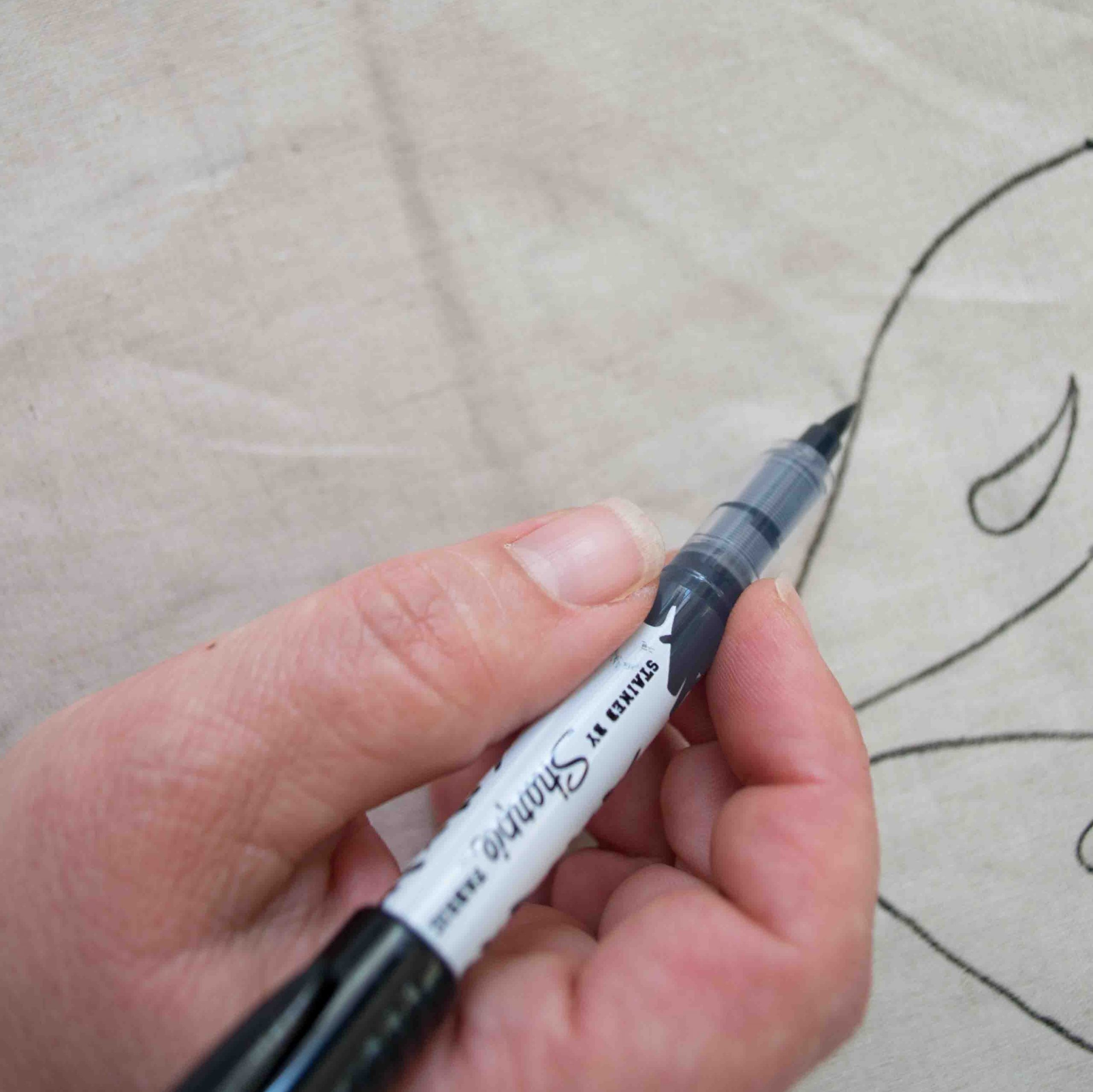 tracing your fabric marker softie
