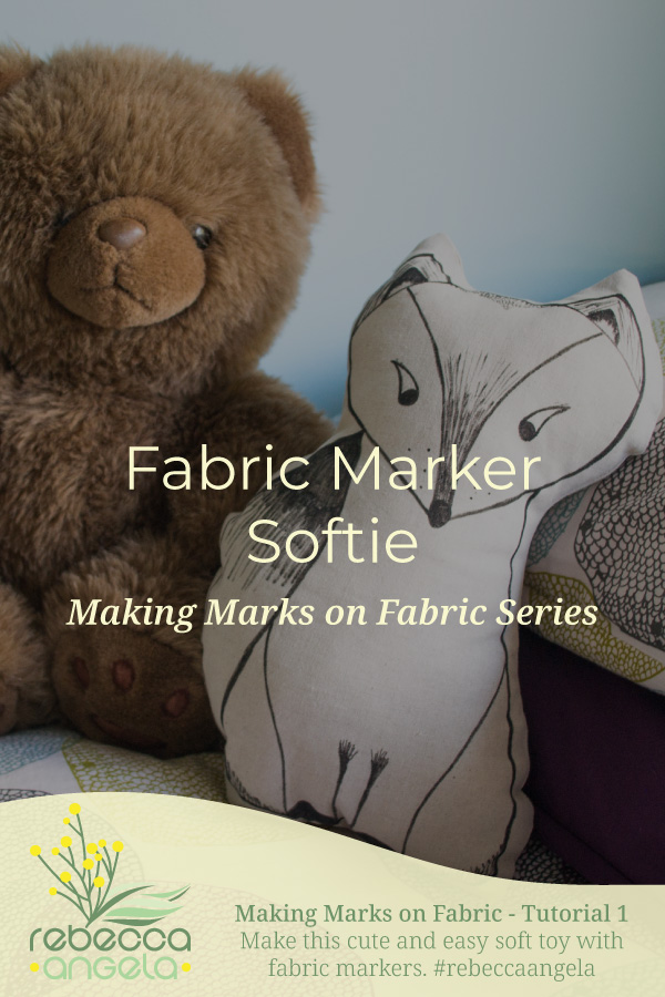 fabric marker softie tutorial pinterest image