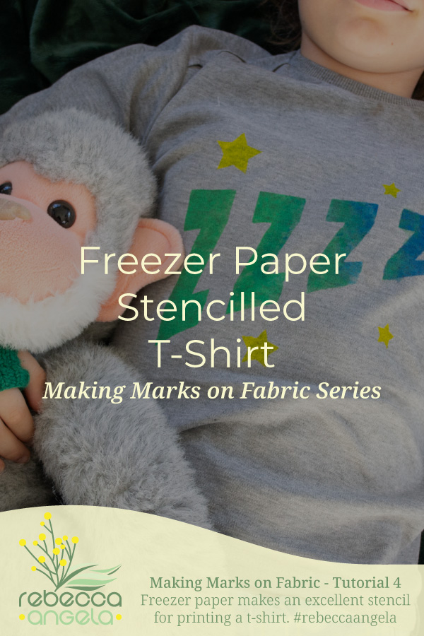 freezer paper stencilled t-shirt pinterest image