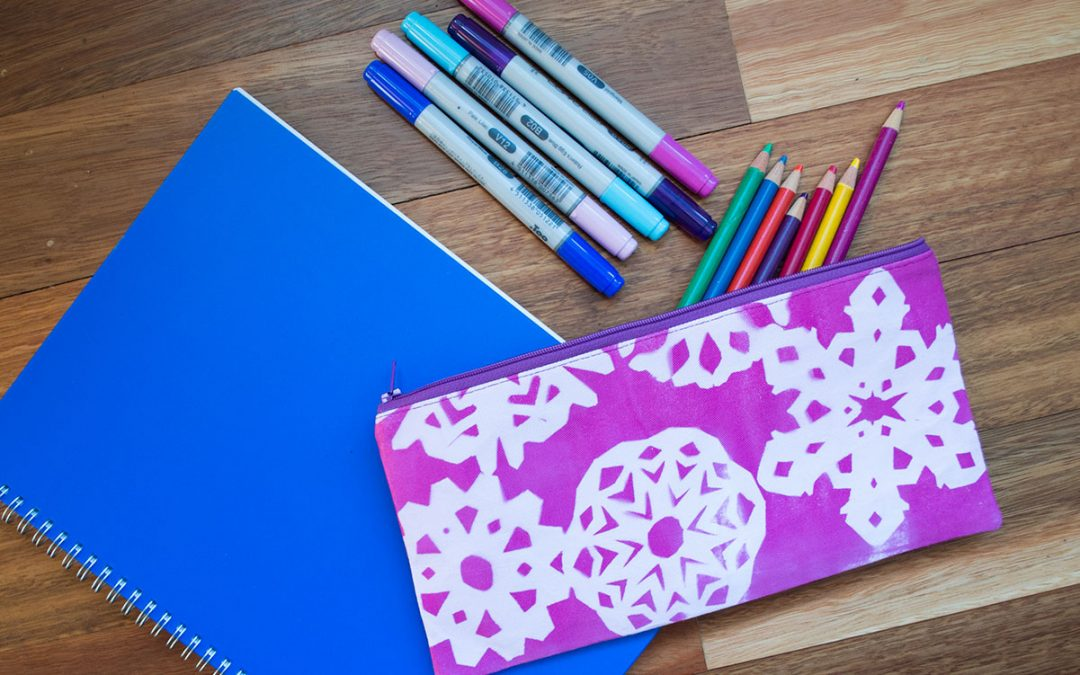 Tutorial – Inkodye Shadow-printed Pencil Case