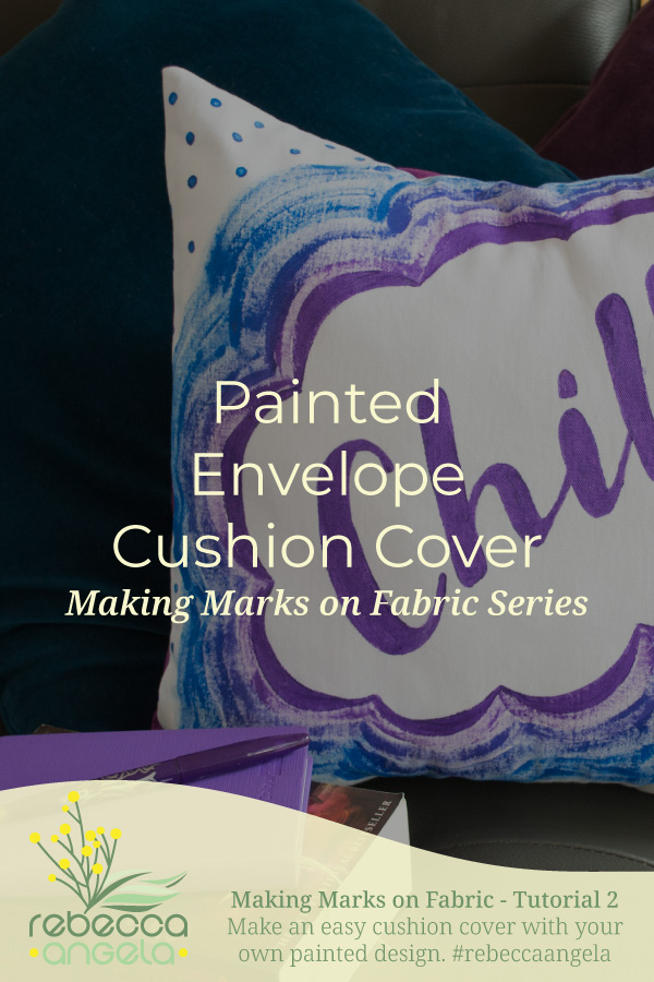 painted envelope cushion cover tutorial pinterest image